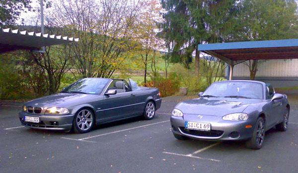 Frauchens MX-5 und mein 320CI