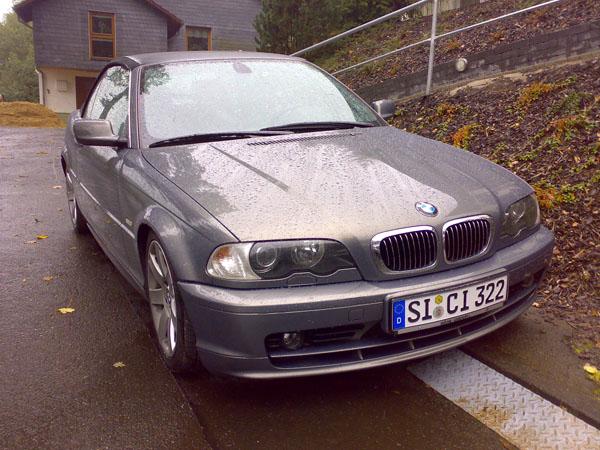 BMW 320CI, und das Nr-Schild passt genau, er hat ja einen 2,2Liter Motor